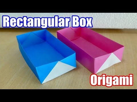 How to make Rectangular box. Origami. The art of folding paper.
