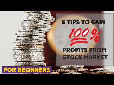 6 Tips to Stock Gain 100% Profits from Stock Market