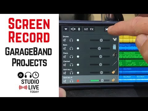 How to screen record a GarageBand iOS project (and edit in iMovie)
