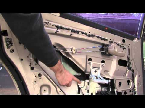 How to push up a stuck automatic window that only goes down, replace motor