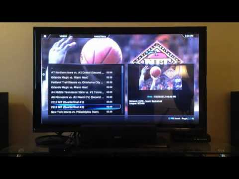 Apple TV 2 Watch ESPN Demonstration