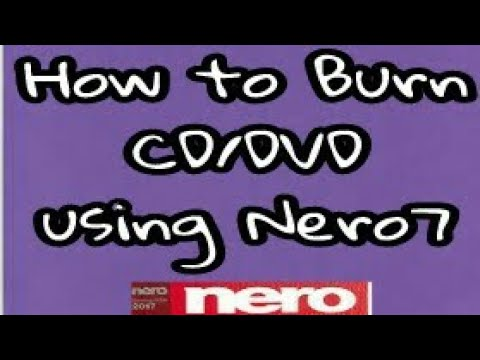 How to CD/DVD Burn and using Nero Software