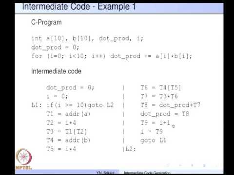 Mod-05 Lec-17 Intermediate code generation Part 1