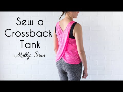 Learn to Sew a Crossback Workout Tank
