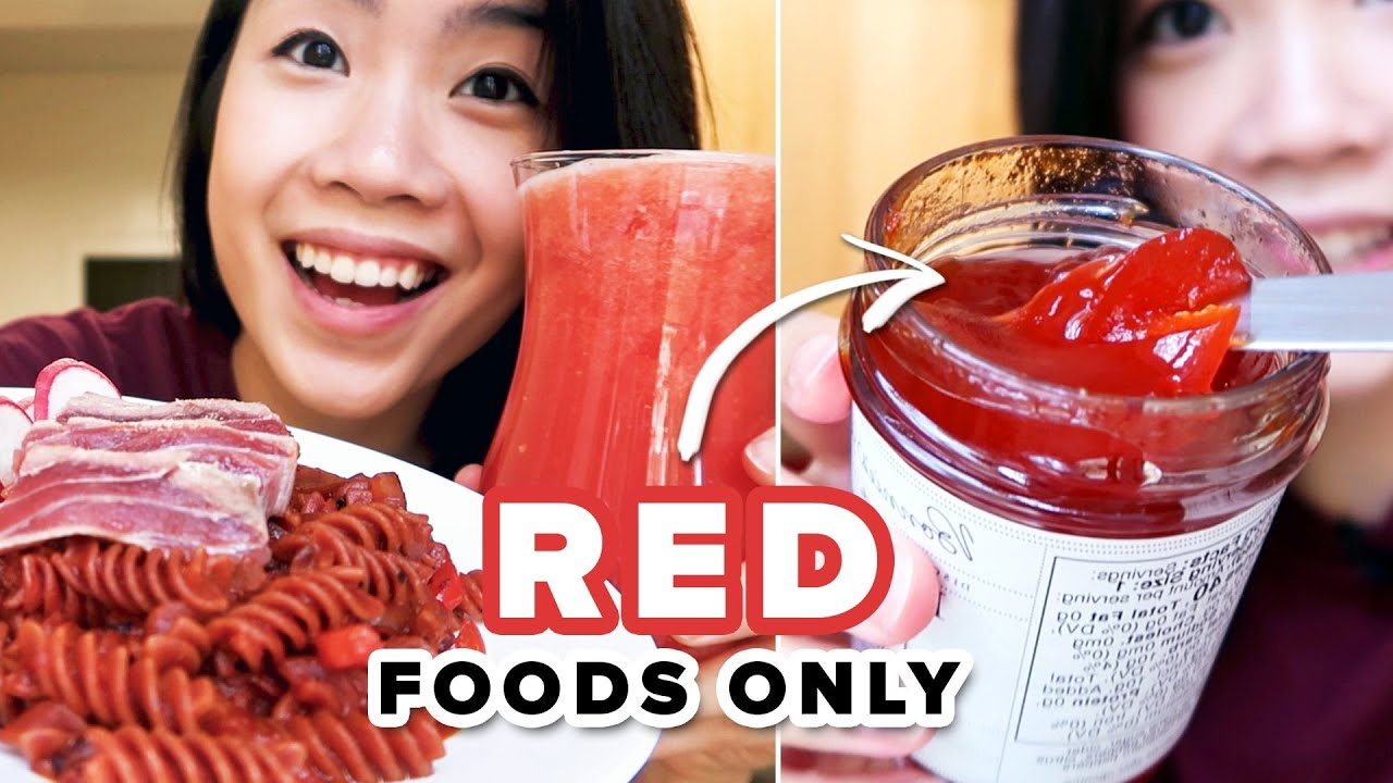 I Only Ate Red Foods For 24 Hours