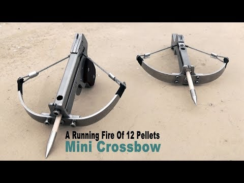 Mini Shooting Toy - A Running Fire Of 12 Pellets Mini Crossbow & Mini Crossbow #168
