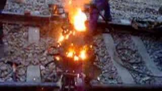 Thermite railroad welding