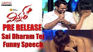 Sai Dharam Tej Funny Speech || Winner Movie Pre Release Event || Sai Dharam Tej, Rakul Preet ||