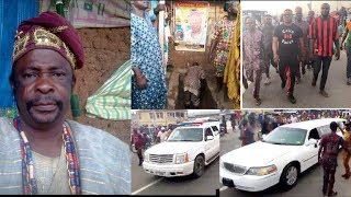 See How Yoruba Actor Dagunro was buried in Osogbo,& was taken to burial ground in a white limousine