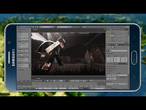 How to Make A 3D Animated Minecraft Intro On Android / IOS Without PC - Phone , Blender , Get