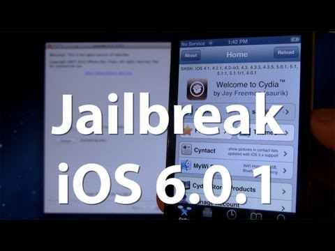 Jailbreak iOS 6.0.1 - iPhone 4, 3GS, iPod Touch 4G - Tethered Jailbreak - Cydia Installed