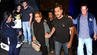 Salman Khan With Family At Mother Helen
