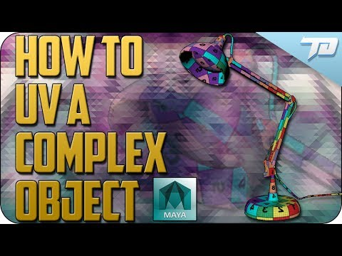 How to UV a Complex Object In Maya   UV Map Tutorial
