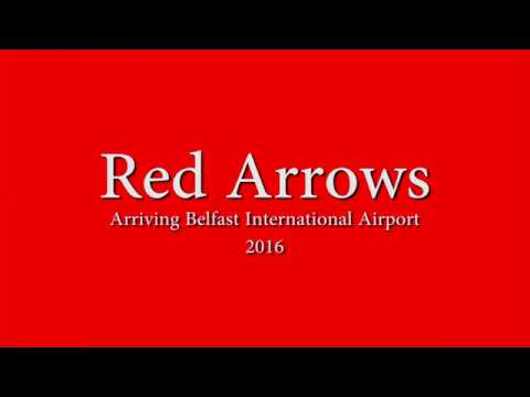 Red Arrows Arriving Belfast International Airport Aug 2016
