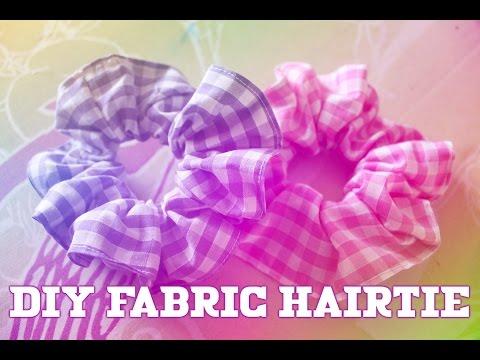[TUTORIAL] Scrunchie / Fabric Hair Tie DIY