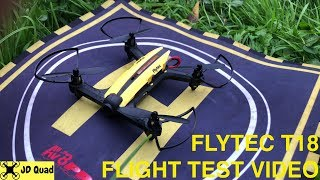 Flytec T18D Mini FPV Racing Drone Outdoor Flight Test Video