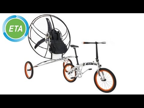 World's first flying bicycle - Paravelo maiden flight 2013