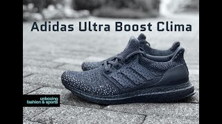 separation shoes bb1b6 e1c08 Adidas Ultra Boost Clima  Triple Black    UNBOXING   ON FEET   fashion shoes