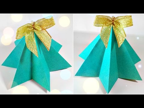 Origami christmas tree diy paper decor 3d made easy tutorial for kids. Fir-tree origami Instructions