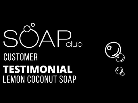 #SoapDotClub Lemon Coconut Soap Unboxing