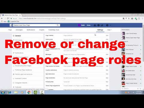 How to remove or change someone existing Facebook page roles FB Tips 104