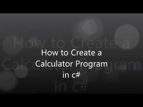 a calculator program in c#