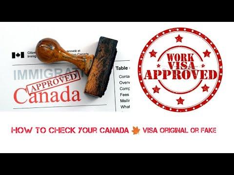 How To  Check your Visa Original or Fake