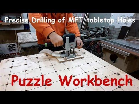 Precise Driling of MFT tabletop Holes