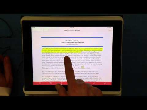 Adobe Reader on the iPad- Annotate Text