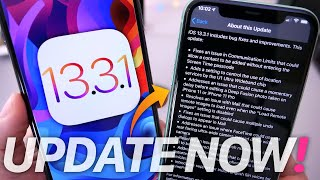 iOS 13.3.1 Released - Why you NEED to Update Now