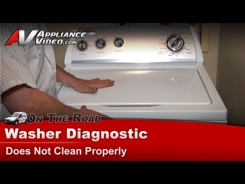 Washer Diagnostic & Repair  - Loud spin,not cleaning  -Whirlpool, Maytag, Sears - WTW5300VW2