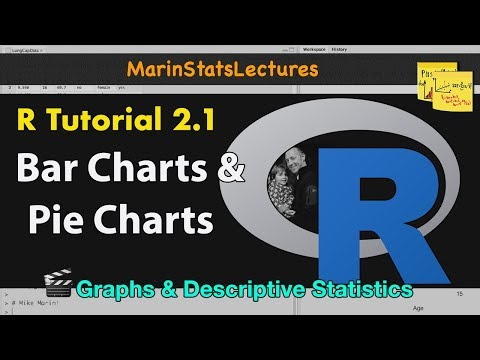 How to Make Bar Charts and Pie Charts in R (R Tutorial 2.1)
