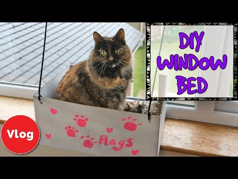 How To Make A DIY Cat Window Bed! Fun And Easy Homemade Craft Idea - Make Your Cat More Comfortable!