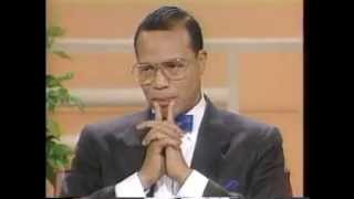 Minister Louis Farrakhan handles the Donahue audience!