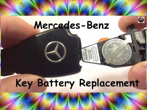 HOW TO Mercedes Benz KeyFob Battery Replacement. Smart key keyless BRC c230 sl500 e320 ml320 DIY Fix