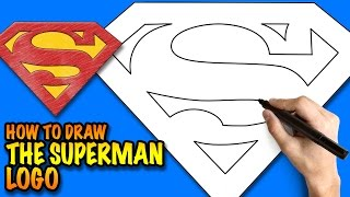 How To Draw The Superman Logo Easy Step By Step Drawing Tutorial