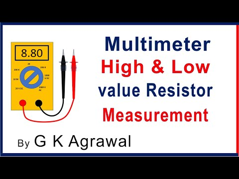 Use of Multimeter - high & low value resistor check