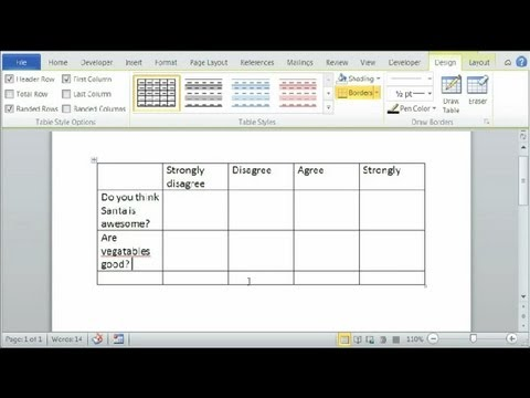 How to Make a Likert Scale in Word : Using Microsoft Word