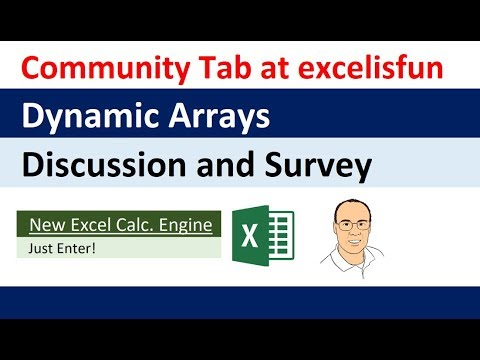 Dynamic Array Discussions in excelisfun Community Tab: Charts?, Append Totals? Big Data?