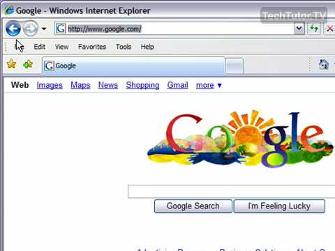 Use the Back and Forward Buttons in Internet Explorer 7