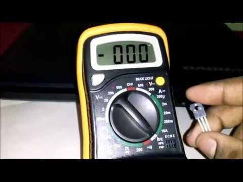 How to test a Bipolar Junction Transistor Using a Digital Multimeter