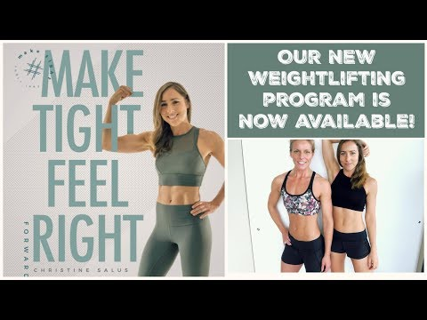 Our New Weightlifting Program is now available! All about #maketightfeelright