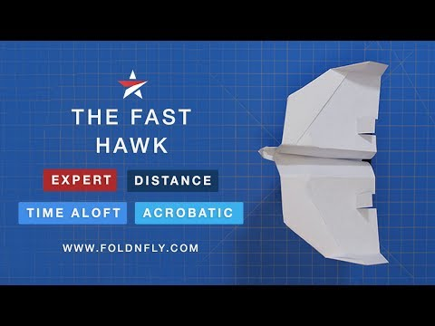 ✈ How to Make a Paper Airplane that Flies FAST! - The Fast Hawk - Fold 'N Fly