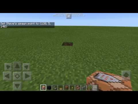 How to teleport in Minecraft pocket edition using command block