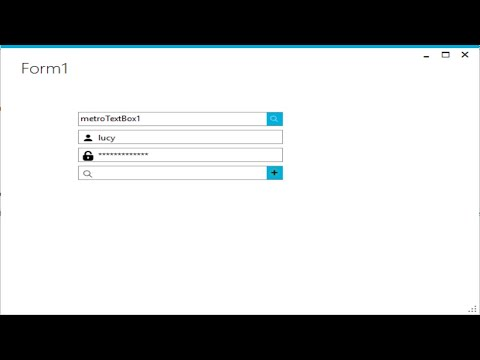 C# Tutorial - Metro TextBox | FoxLearn