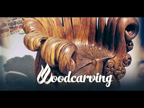 Wood carving Chair Slideshow Throne of Wood ►► Резьба по дереву Трон из пня