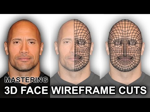 How To Master The Correct 3D Wireframe Cuts Structure of a Face for 3D Modelling