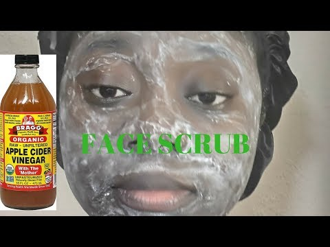 baking soda and apple cider vinegar face scrub| lucindacotv
