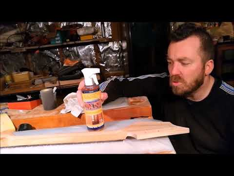 Monster Guitars 059: The Flame - Apply a tung oil finish to the neck
