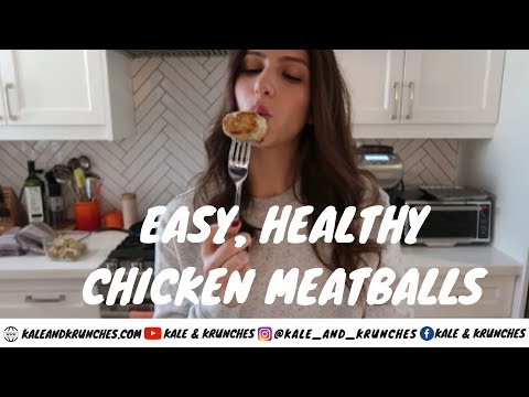 Chicken Meatballs - Healthy, Easy, Paleo